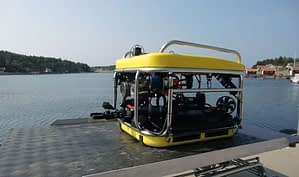 Remotely operated vehicle used to capture underwater videos